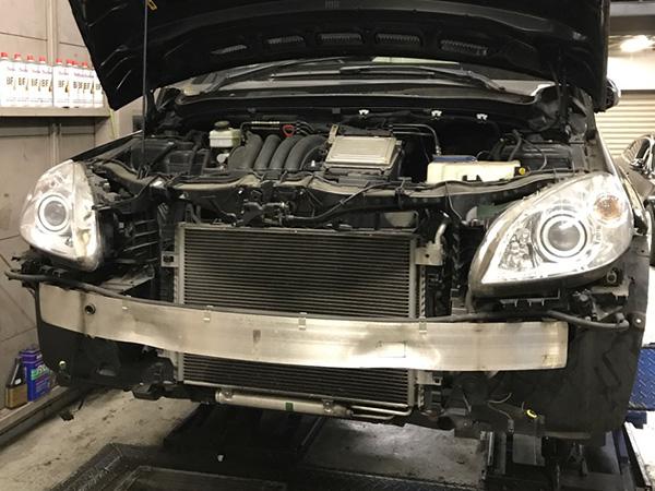 メルセデスベンツBクラス(W245)エアコン修理