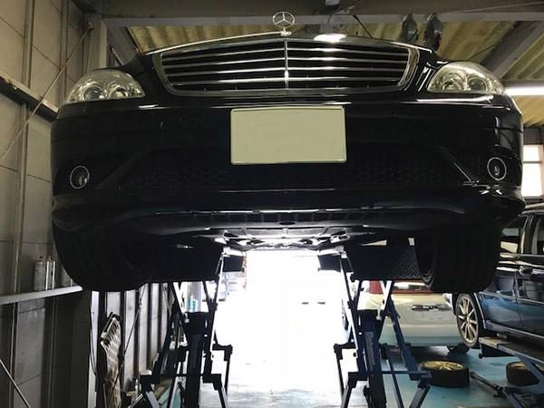 メルセデスベンツ Sクラス W221 S550 フロント足廻り不具合修理