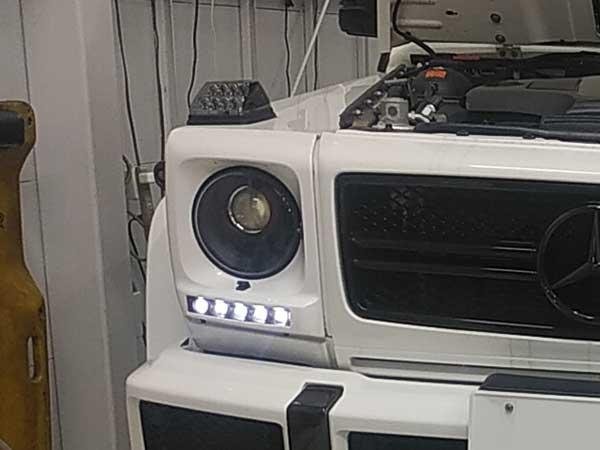 メルセデスベンツ G500 エンジンルームより異音